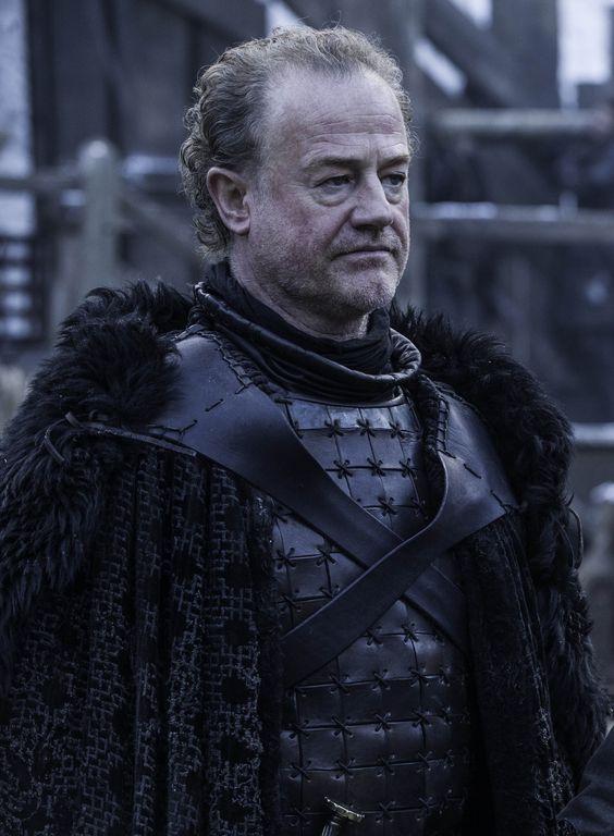 Sor Alliser Thorne -  Membro Juramentado da Patrulha da Noite e Mestre em Armas de Castelo Negro.