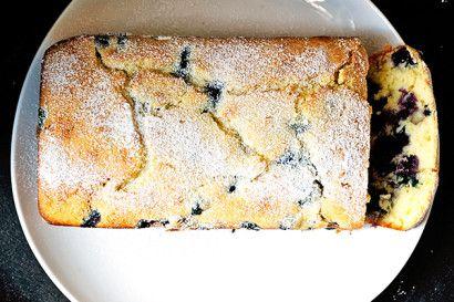 lemon ricotte blueberry bread Citroen ricotta blauwe bessen brood / cake