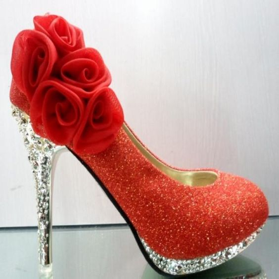 Aliexpress.com : Buy free shipping Wedding shoes red gold high