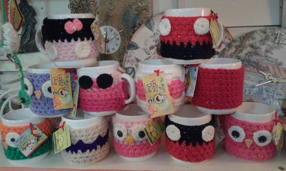 Tazas con crochet