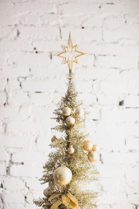 Gold Christmas tree.