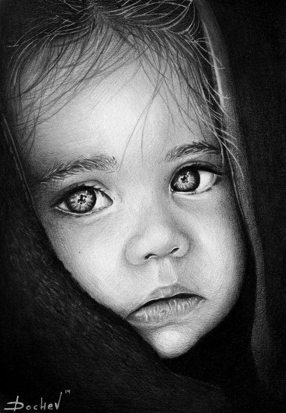 صور مرسومة بقلم الرصاص أجمل الصور المرسومة باليد بفبوف Cool Pencil Drawings Pencil Portrait Baby Girl Portraits