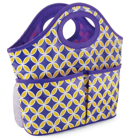 Shower Caddy-Purple/Gold | Fashion | Mud Pie