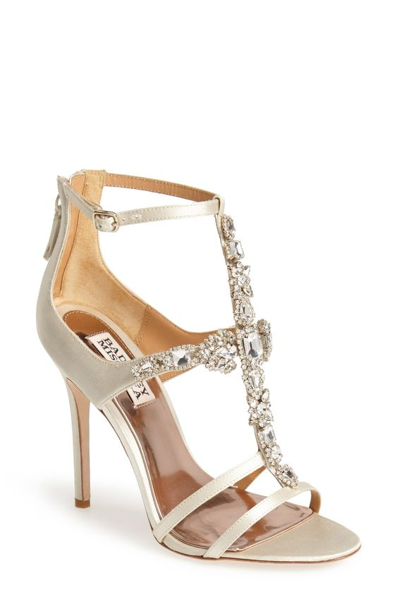 In love with these metallic gold sandals. The sparkly crystal ...
