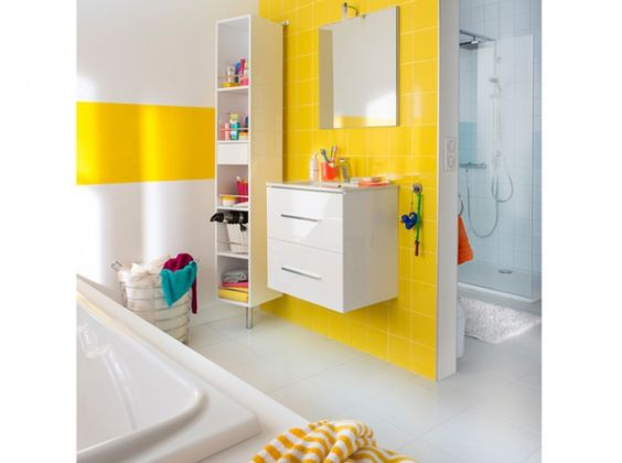 salle de bains jaune pour enfant salle de bains. Black Bedroom Furniture Sets. Home Design Ideas