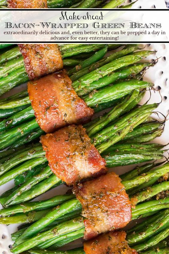 Make-Ahead Bacon-Wrapped Green Beans