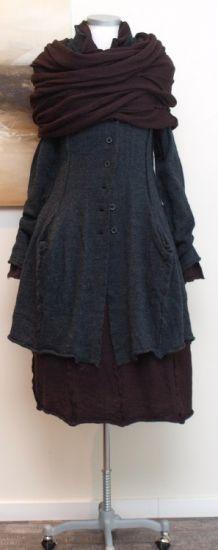 rundholz black label - Mantel gekochte Wolle anthra - Winter 2014 - stilecht - mode für frauen mit format...