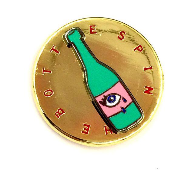 SPIN THE BOTTLE Enamel Pin by PenelopeGazin on Etsy