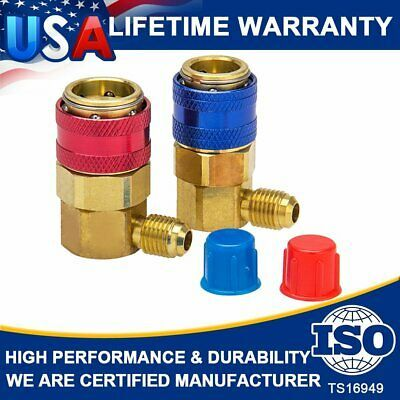 1x Set Adapter High Pressure and Low Connection Vehicle Air Conditioning R134a