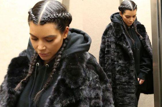 kim kardashian hair:
