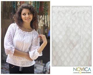 Cotton 'Summer Breeze' Blouse (India) So pretty!