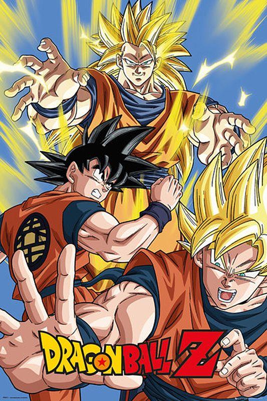 Dragonball Z Poster Goku 61x 91 5cm Dragon Ball Gt Posterdrucke Anime