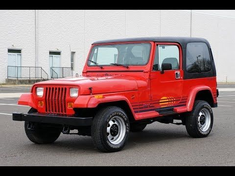 1989 Jeep Wrangler Islander 4x4 5 Speed Manual Hard Top Jeep