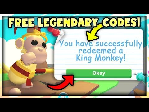 15 New Codes For Free Legendary Monkey Pets In Adopt Me Roblox Monkey Update Youtube In 2020 Roblox Adoption My Roblox