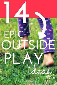 It's time to get outdoors for some family fun! Try these outside play ideas and hacks to get your kids outside and active in the backyard!