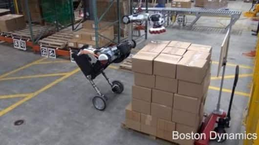 This Dino Like Robot Can Do Warehouse Jobs Better Than You Boston Dynamics Warehouse Jobs Warehouse