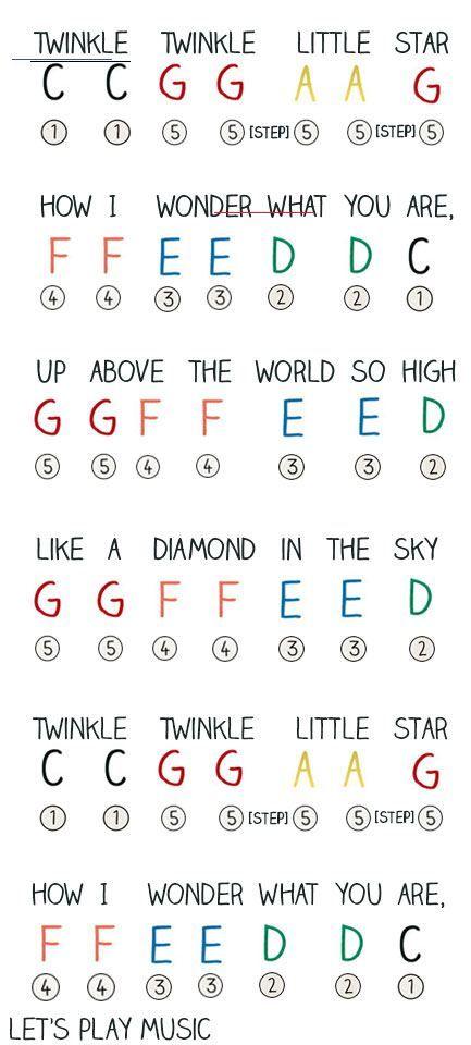 Twinkle Twinkle Little Star - Traditional Easy Letter