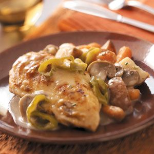 Chicken and red potatoes... a good sounding crockpot recipes