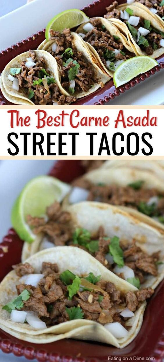 Easy Carne Asada Street Tacos