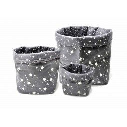 conjunto cestos estrellas gris - minimoi
