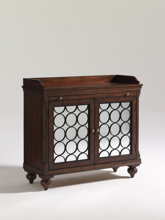 Furniture. Mirrored chest with dark wood. Option 3: Moore Councill Home Furnishings: W48 x D18 1/2 x H43
