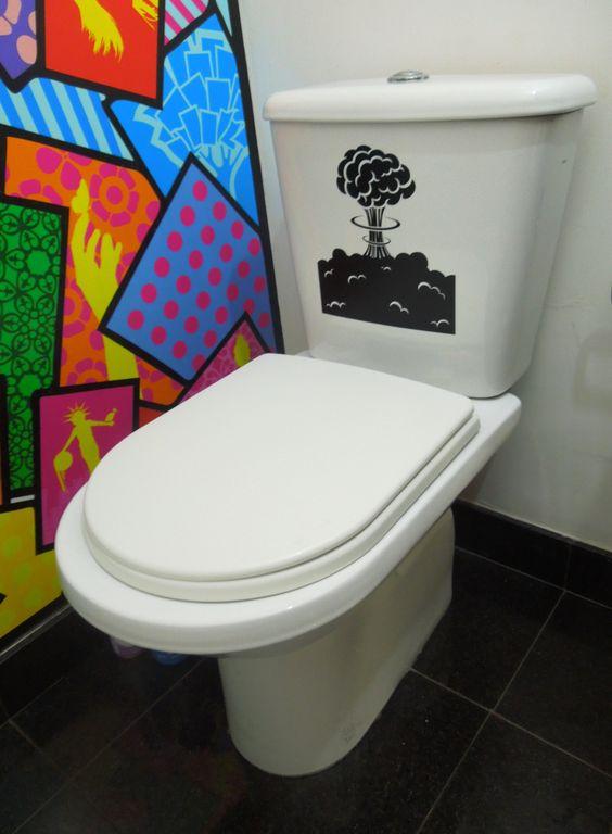 Artesanato Em Ubatuba ~ Adesivo para banheiro Vinil de recorte personalizado Que tal adesivar! Pinterest