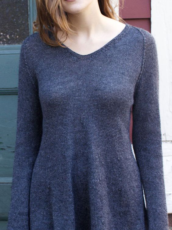 Knitting In The Round Sweater Patterns : Graphite is a beautiful line pullover knit seamlessly in