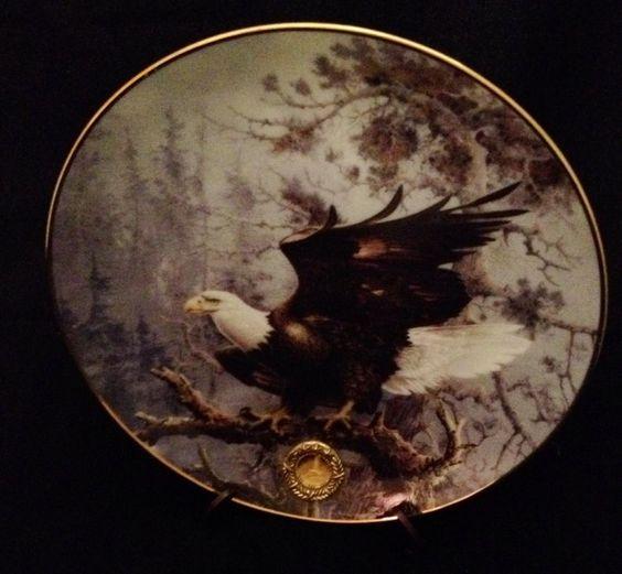 Ted Blaylock Alaska Chilkat Bald Eagle Preserve Poised For Glory Franklin Mint