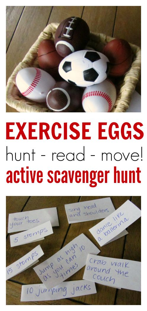 This would make a GREAT brain break idea. What a fun way to use plastic Easter eggs.: