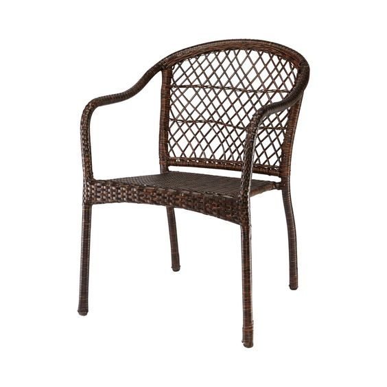 HD Designs Outdoors® Evelyn Woven Stacking Chair