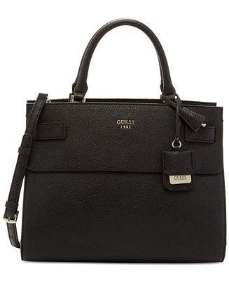 Buy GUESS Women's Huntley Leather Black Small Cali Satchel