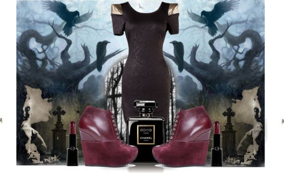 """dark forest"" by roisinlawrence on Polyvore"