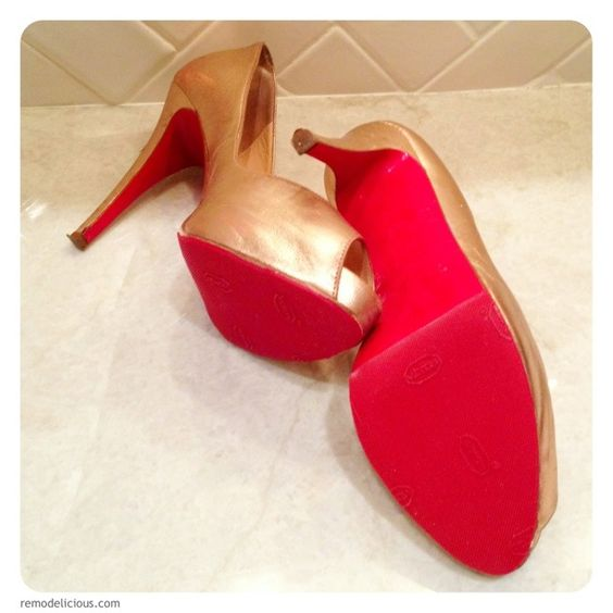 Christian Louboutin...red bottom fix without a Cobbler!!!!  Stop slipping and sole damage.  DIY resole to bring an old pair of shoes back to life.