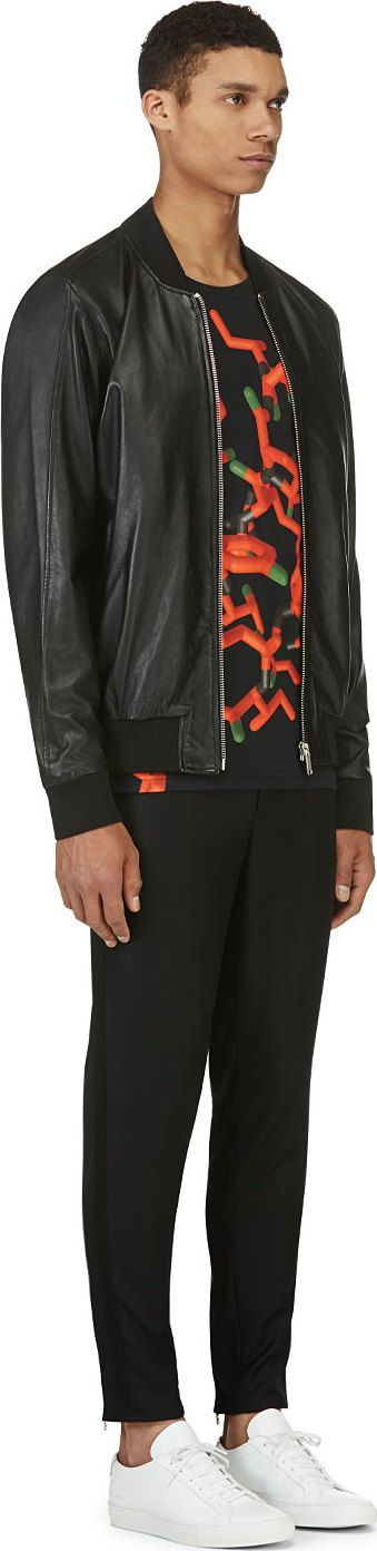 Christopher Kane's BLACK & RED ALL-OVER MOLECULE T-SHIRT