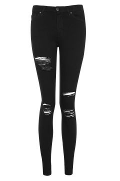 MOTO Super Rip Leigh Jeans in Black:
