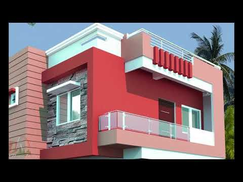 Latest Parapet Wall Designs With Railings Indian Styles Youtube House Front Wall Design Small House Elevation Design Modern Small House Design
