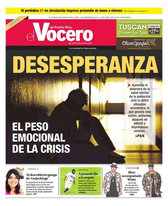 Edición 1 de Febrero 2016  El Vocero de Puerto Rico