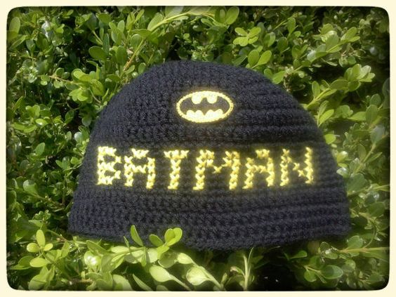 Check out this item in my Etsy shop https://www.etsy.com/listing/233039974/personalized-batman-inspired-crochet  I have had lots of requests for Batman inspired items so here it goes.