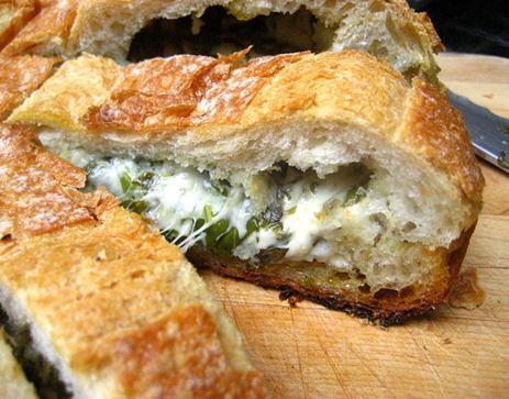 Stuffed Cheese Bread w/ Herbs.
