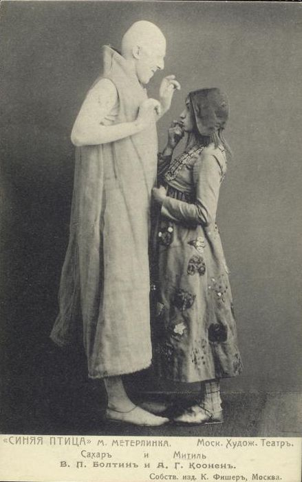 Maurice Maeterlinck's The Blue Bird at the Moscow Art Theatre in 1908, directed by Konstantin Stanislavski: