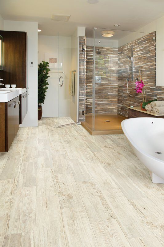 Tampico 7 X 24 Ceramic Wood Look Tile In Cream Wood Look Tile Floor Tile Design Bathrooms Remodel