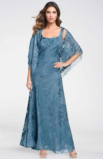 Alex Evenings Sequin Lace Overlaid Dress with Shawl   Mother of the bride dress from Nordstrom