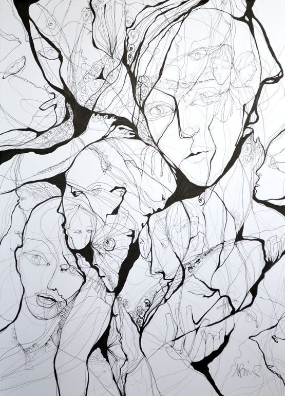 "Boicu Marinela; Pen and Ink, 2013, Drawing ""bad dream"":"