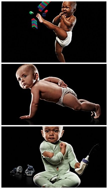 Best baby photos ever? Strong baby series by Eric Sahrmann