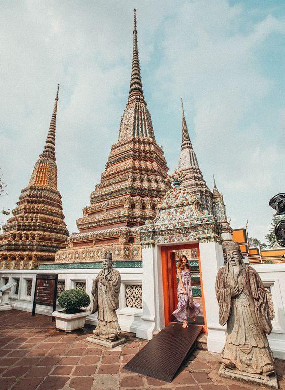 [Chia sẻ] Du lịch Wat Pho hay còn gọi là chùa Phật nằm, Bangkok, Thái Lan