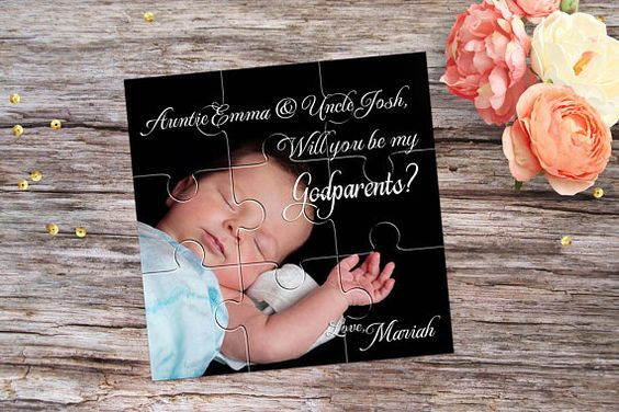 Personalised Godparent Invitation Godparents Gift Ask Godmother Will you be my Godfather Puzzle Proposal Will You Be My Godparents Puzzle
