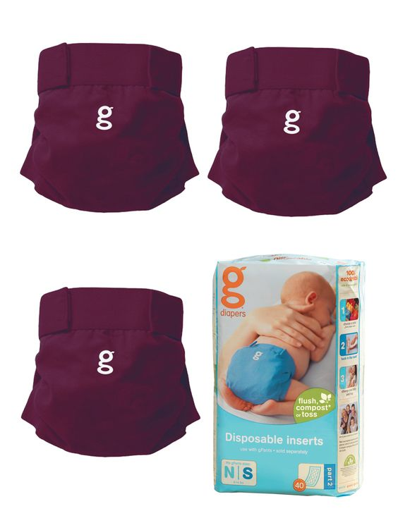 gPants 3 Pack & Disposable Inserts Small by GDiapers at Gilt