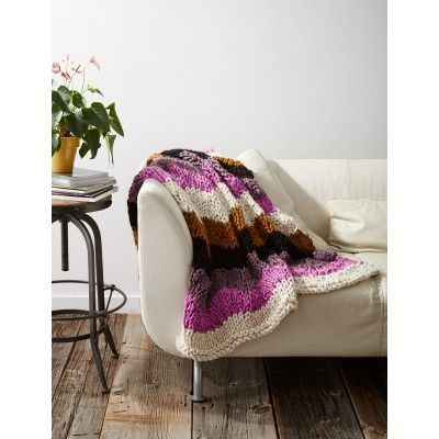 Knitting Pattern For Rippling Waves Afghan : Free knitting pattern for a chunky ripple afghan blanket handarbeit Pinte...