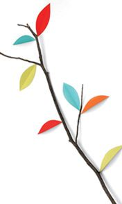 paper leaves on real branches = ♥