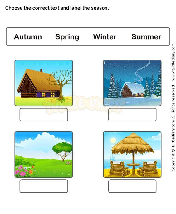 Seasons worksheets kindergarten science – Seasons Worksheets for Kindergarten
